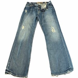 BKE TYLER Jeans Button Fly Distressed Destroyed 34